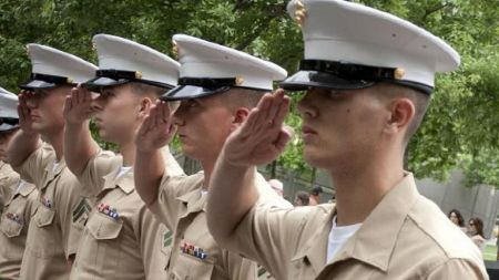 marines salute